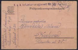 6222. WWI, K.u.K. Feldpost, 1918, Postcard - Postcards