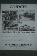 87 - LIMOGES - BELLE AFFICHE 2E SALON CARTE POSTALE- 1987- GARE BENEDICTINS- IMPRIMERIE VILLOUTREIX SAINT JUNIEN