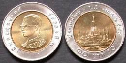 THAILANDE   10  BATH  2004 / 2547 Année Thaïlandaise  UNC / BU  THAILAND  PORT OFFERT - Thailand