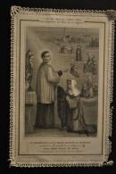 Image Pieuse Canivet Dentelle - Le Bienheureux Louis Marie Grignon De Montfort Admet Soeur Marie Louise De Jésus - Images Religieuses