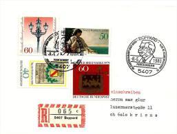 """22825 - Enveloppe Allemande Recommandée Avec Oblit Spéciale  De Boppard """"Pierre De Coubertin 1980"""" - Other"""