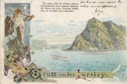 Allemagne -  Gruss Von Der Loreley  - Postmarked Coblenz 1899 - Loreley