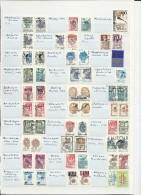 ECLATEMENT de L'URSS - COLLECTION ORIGINALE de + de 500 TIMBRES LOCAUX **  (+ de 8 PAGES) - ANNEES 1990/1993