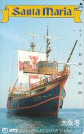 JAPAN - Sailboat, Santa Maria(330-293), 06/90, Used - Bateaux