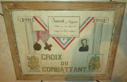 Cadre + Medailles 102e R.A - 1939-45