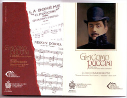 2€ Commémorative SAN MARINO 2014 GIACOMO PUCCINI  FDC - San Marino