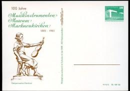 VIOLIN MAKER Markneukirchen 1983 East German Private Postal Card PP18 C2/016 - Musica
