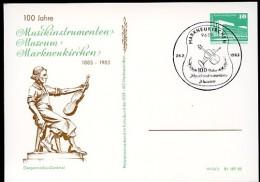 VIOLIN MAKER Markneukirchen 1983 East German STO Postal Card PP18 C2/016  Cat. 5,00 € - Música