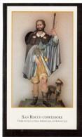 ST65   Santino - Holy Card - Image Pieuse - SAN ROCCO CONFESSORE - Devotion Images