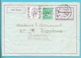 1645 Op AEROGRAMME Met Stempel CINEY Naar BURUNDI - 1970-1980 Elström
