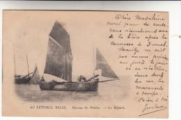 De Panne, La Panne, Au Littoral Belge, Bateau De Pêche, Le Départ (pk15084) - De Panne