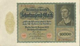 Deutschland, Germany - 10000 Mark, Reichsbanknote, Ro. 68 B ,  ( Serie F  ) XF, 1922 ! - 10000 Mark