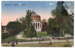 Roumanie--BUCAREST--1919- - Atheneul Roman    éd   R.O David & M.Saraga - Roumanie