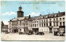Condé-sur-l´Escaut (59) - La Place Et Le Beffroi - Conde Sur Escaut