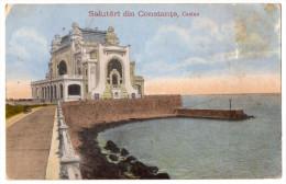 """Roumanie--CONSTANTA--1919 --Salutari Din CONSTANTA- Casino  N°2691  éd """"Galeria De Cadoiri"""" Ad Maier & Stern - Roumanie"""