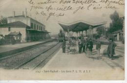 SAINT RAPHAEL Les Gares PLM Et SF -1906- Bon état- 2 Scans - Saint-Raphaël
