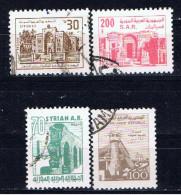 SYR+ Syrien 1982 1983 Mi 1553-55 1572 Bauwerke - Syrie