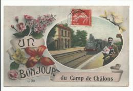 CAMP DE CHALONS (51) Un Bonjour - Camp De Châlons - Mourmelon