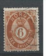 1872 USED Norge, Norway Norwegen, Gestempeld - Norway