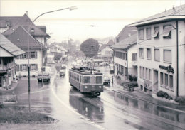 Chemin De Fer Suisse, Oberaargau - Jura Bahn, Train à Aarwangen Photo 1975 BVA 76.10  OJB - Trains