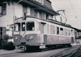 Chemin De Fer Suisse, Oberaargau - Jura Bahn, Train à Melchnau Photo 1971 BVA 76.8  OJB - Eisenbahnen
