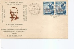 Roumanie -Locales Des Exilés -Eisenhower ( FD C De 1959 à Voir) - Emissions Locales
