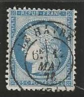 France - Cérès - N°60A Bleu - Obl. Cachet à Date LE HAVRE 12/5/76 - 1871-1875 Cérès