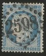 France - Cérès - N°60A Bleu - Obl. GC 2598 NANCY - 1871-1875 Cérès