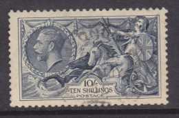 Great Britain: George V, 10/=  Indigo,  Seahorses, Re-drawn, London  C.d.s. Used - 1902-1951 (Könige)