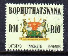 South Africa: Bophuthatswana , 1988, 10 Rand Revenue Used - Bophuthatswana