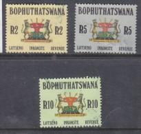 South Africa: Bophuthatswana , 1988, 2 Rand, 5 Rand, 10 Rand, Revenue Used - Bophuthatswana