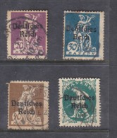 Germany: 1920, On Bavaria, 4 Stamps Used - Germany