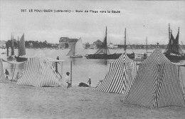 44 - LE POULIGUEN - Bord De Plage Vers La Baule - Ed Chapeau N° 227 - TBE - Le Pouliguen