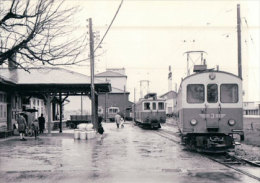 Chemin De Fer Suisse, Oberaargau - Jura Bahn, Train à Langenthal Bahnhof Photo 1963 BVA 73.9 OJB - Eisenbahnen