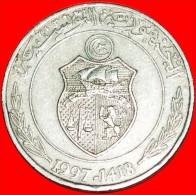 ★ SHIP: TUNISIA ★ 1 DINAR 1418-1997! LOW START! NO RESERVE! - Tunisie