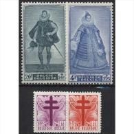 Belgien 831/34 Postfrisch Kampf Gegen Die Tuberkulose: Lothringer Kreuz, Fürstenbildnisse - Belgien