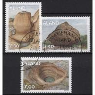 Aland 1995 Gesteinsformationen 92/94 Gestempelt - Ålandinseln
