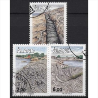 Aland 1993 Gesteinsformationen 75/77 Gestempelt - Ålandinseln