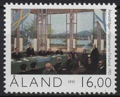 Aland 1991 70 Jahre Autonomie 53 Postfrisch - Ålandinseln