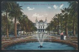 Monte Carlo, The Casino And Gardens, Picture Postcard, Unused, Very Fine - Monte-Carlo