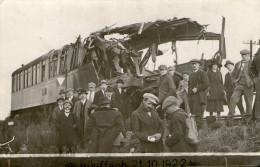 (500)  CPA   photo Rouffach catastrophe du 21 oct 1922 sur la ligne Rouffach Colmar    (bon etat)