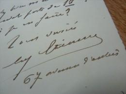 Eugène ETIENNE (1844-1921) - Parti COLONIAL - Ministre De La GUERRE. - AUTOGRAPHE. - Autographs