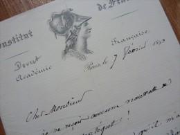 Camille DOUCET (1812-1895) - Poète ACADEMIE FRANCAISE - Autographe. - Autographes