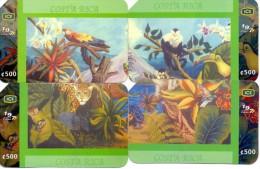 USED PHONE CARDS  COSTA RICA   4V