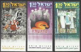 ISRAEL - 2005 Children's Rights. Scott 1621-1623. MNH ** - Israel