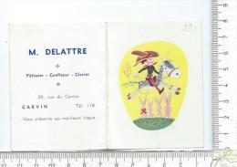 MINI CALENDRIER: Année 1966, 2 Volets, M. Delattre Patissier à Carvin - Calendriers