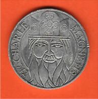 100 Francs Argent - Charlemagne 742-814 - 1990 - Francia