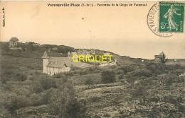 Cpa 76 Varengeville-Plage, Panorama De La Gorge De Vastenval, Belles Villas,  Carte Pas Courante - Varengeville Sur Mer