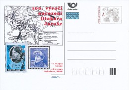 Czech Rep. / Postal Stat. (Pre2012/39) Otakar Jaros (1912-1943) Czech Officer Czechosl. Forces In SU; Battle Of Sokolovo - Timbres Sur Timbres