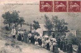 FRANCE C.P.A  12 AVEYRON  VILLEFRANCHE DE ROUERGUE  Pèlerinage A St Jean(en L´état) - Villefranche De Rouergue